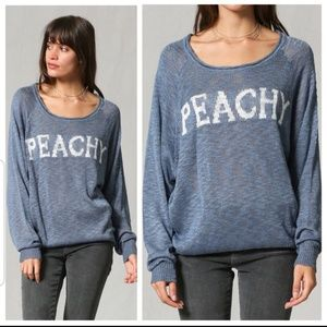 Sweaters - NEW ' Peachy' Graphic Sweater